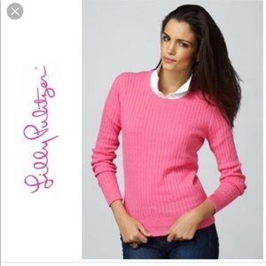 Lilly Pulitzer sm boatneck pink sweater pullover